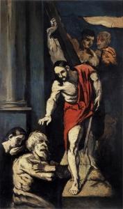 Le Christ descendant aux limbes d'après Sebastinao del Piombo, 1869, 170x97cm, Paris musée d'Orsay
