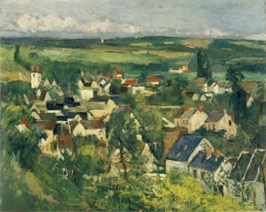 Vu panoramique d'Auvers sur Oise, 1873, 65,2 x 81,3 cm, NR 221, Art Institute, Chicago