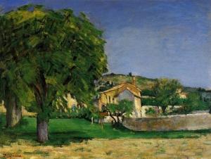 Marronniers et ferme du Jas de Bouffan, 1876, 51x65cm, NR268, coll. privée