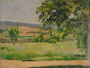 Vue prise du Jas de Bouffan, 1875-76, 44,5x59cm, NR270, Aix-en-Provence, musée Granet ( dépôt de l'Etat, muse d'Orsay, donation Philippe Meyer)