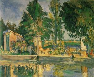 Le Bassin du Jas de Bouffan, 1876, 49x55cm, NR278, ancienn collKrbs( Weimarà Saint Pterbourg, Ermitage