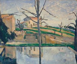 Le Bassin du Jas de Bouffan en hiver, 1878, 52,5x56cm, NR350, coll.privée