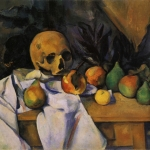 Nature morte au crâne(devant le paravent),1896-98, 54x65cm, Phildelphie barnes foundation