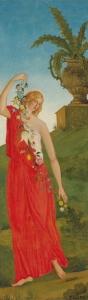 Les quatre Saisons, 1860-61, 314x100cm chaque panneau environ, NR 4,5,6,7, Paris Petit Palais