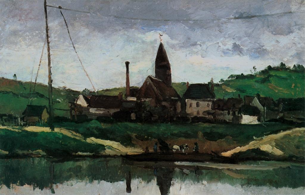 Le Lac à Bonnières, 1866, 38X61cm, NR96, Aix-les-Bains, Musé du docteur Faure