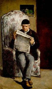 Louis-Auguste Cézanne, père de l'artiste, lisant l'Evénement, automne 1866, 200x120cm, NR101, Washington National Art Gallery