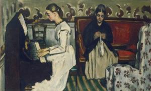 Jeune fille au pianp ou L'ouverture de Tannhauser, 1869-79, 57x92cm Saint-Peterbergourg, Ermitage