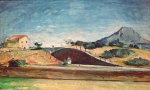 La Tranchée avec la montagne Sainte-Victoire, 1870,8x129cm, NR 156