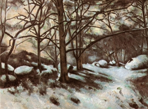 Neige à Fontainebleau, 1878-1879, 73,6x100,6cm, NR413, New York, Moma.