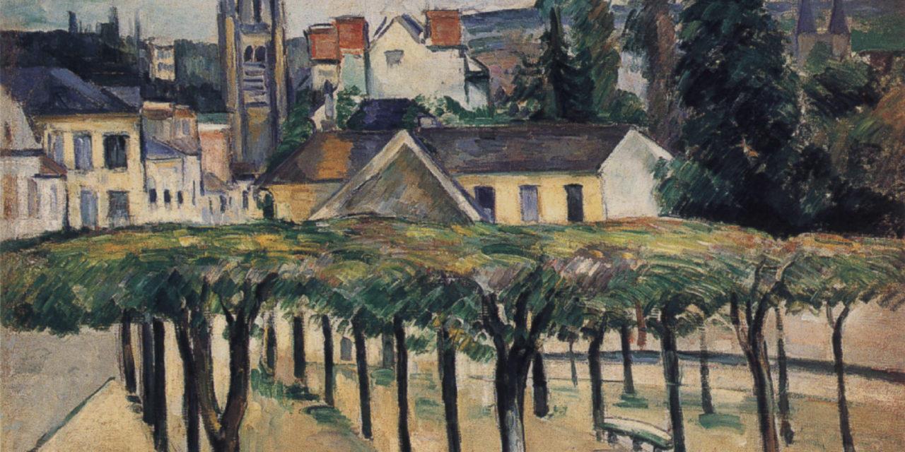 Identification de la position de Cézanne peignant la Place de la Préfecture à Melun