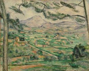 La Montagne Sainte-Victoire au grand pin, 1886-87, NR 598, 59,7x72,5cm, Washington, Phillips Collection