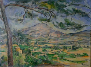 La Montagne Sainte-Victoire au grand pi, 1887, 66x90cm, NR599, Londres Courtauld Institutes Galleries
