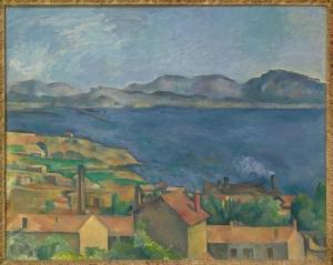 L Golfe de Marseille vu de l'Estaque, 1885, 80,éx100,6cm, NR626 Chicago, Fine arts museum
