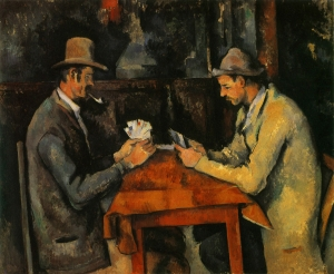 Cézanne, Les Joueurs de cartes, 1893-96, 60x73cm, NR713 London, Courtauld Institutes