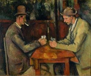 Les Joueurs de cartes,1893-1896, 47x56cm, NR714, Paris, musée d'Orsay.