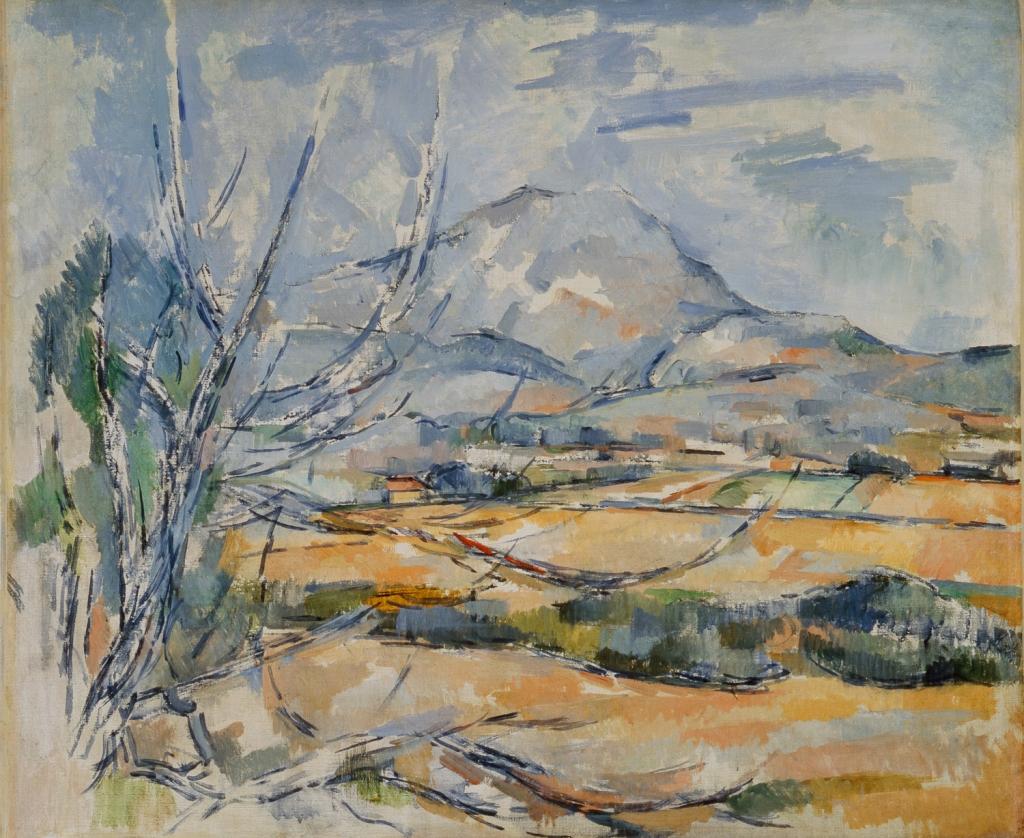 La Montagne Sainte-Victoire , vue de la colline de Bellevue (vers la ferme de la Constance), 1900-1902, 54,6x64,8cm, NR 901, Edinburgh, National Gallery of Scotland