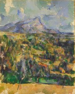 Sainte-Victoire vue de la colline des Lauves, 1902-1906, NR910