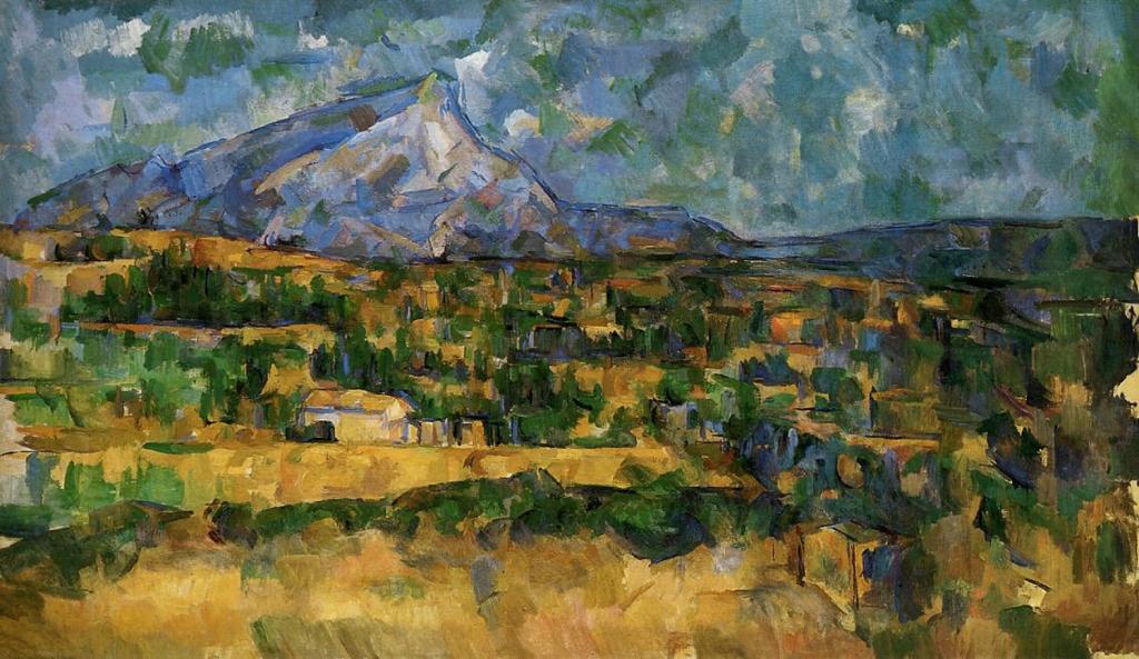 La Montagne Sainte-Victoire, 1906, 56,6x96,8cm, NR915, New York Metroplitan museum of Art.