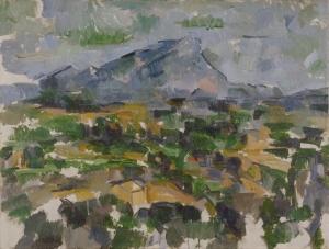 La Montagne Sainte-Victoire, 1902-06, 63,5x83cm, NR916, Zurich Kunsthaus.