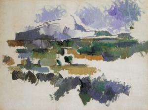 La Montagne-SainteVictoire vue des Lauves, 1904-06, 54x73cm, coll. privée