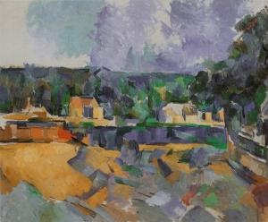 Bord de rivière ( vers Fontainebleau, dimension, NR 920, Rhode Isalnd