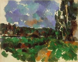 Paysage au bord d'une rivière, 1904 ou 1905, 65x81cm, NR922, coll. Privée.