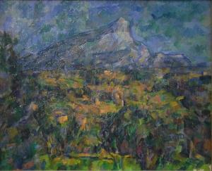 Sainte-Victoire vues de la colline des Lauves, NR932, Moscou musée Pouchkine