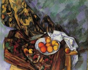 Nature mort, rideau à flerus et fruits, 1904-1906, 73x92cm, NR935, Coll. privée