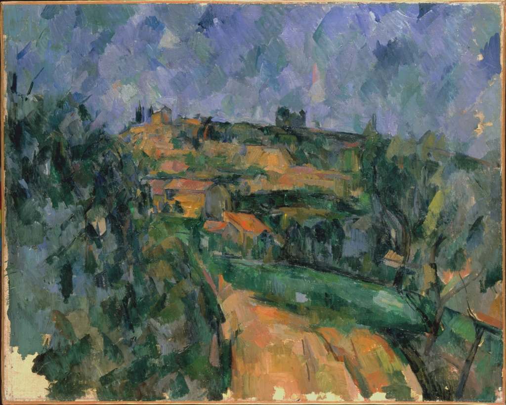 La route tournante en haut du chemin des Lauves, 1904-1906, 65x81cm, NR 946, Riehen, Basel, fondation BeyelerBeyeler