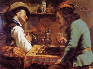 Courbet, Les Joueurs de Dames