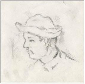 Homme-au-Chapeau, Etude pour les-joueurs de cartes, 1890-92