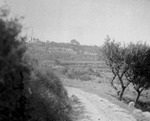 La route tournante en haut du chemin de la route des Lauves . Photographie Rewald vers 1935.