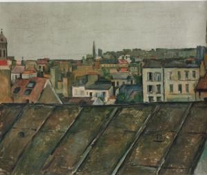 Les toits de Paris, (vus de la rue de l'ouest) 1882, 59,4x72,4cm, NR503, coll.privée