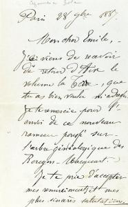 lettre de Cezanne à Zola du 28 septembre 1887