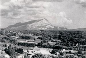 Sainte-Victoire. Photographie Rewald vers 1935.