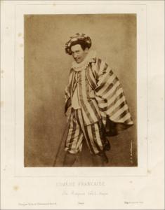 fig. 19 : Valloiu de Villeneuve, Photogrph of M. Regnier as Sccapin, musée Nicéphore Nièpce, Châlons sur Scône