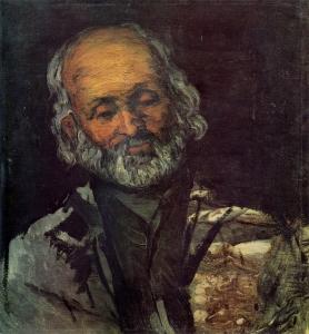 Tête de vieillard, (Le père Rouvel à Bennecourt ?),51x48cm, NR 97, Paris musée d'Orsay