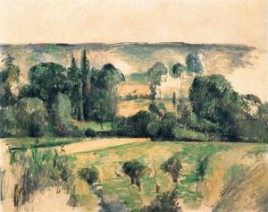 Campagne et coteau (près de Médan) ( datation Rewald : 1883-1885), 64x77cm, NR 527