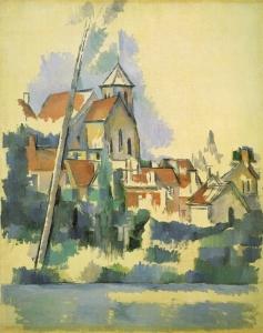 L'église de Montigny-sur-Loing, 1898, 92x73cm, NR832, Philadelphie, Barnes Foundation