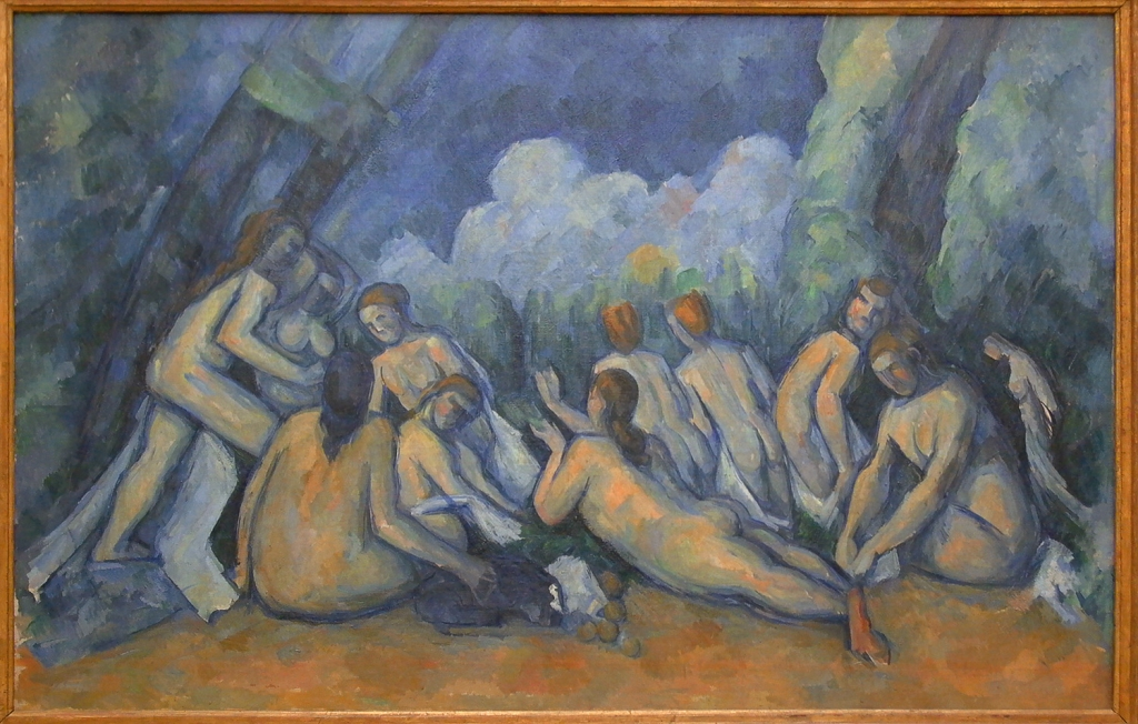 Les Grandes Baigneuses, 1894-1905, 136x191cm, Londres National Gallery