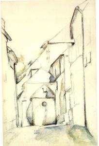 Eglise d'Avon (dessin aquarellé)