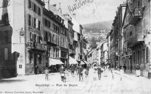 """Neuchâtel, Hôtel du Soleil, où séjournèrent les """"Cezanne"""""""