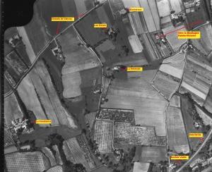 fig.1 : photo aérienne, 1960 du site de Vacros