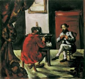 Une lecture de Paul Alexis chez Zola, 1869-70, 52X(-cm, NR150, Zurich, coll. privée