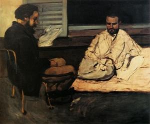 Paul Alexis lisant à Emile Zola 1869-70, 130x160cm, NR 151, Sao Paolo,Museu de Arte.