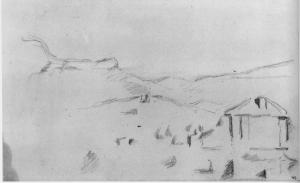 Fig. 19 . C0894 Paysage de collines avec une maison 82-85