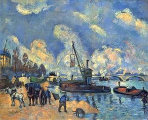 La Seine à Bercy d'après Guillaumin, 1876-78, 59x72cm, NR293, Hamburg, Kunsthall