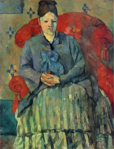 Madame Cézanne au fauteuil rouge, NR 324, Boston