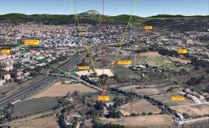 Fig 5. Reconstitution 3D à hauteur 400 m