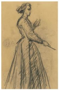 C0218 Femme debout, connue comme La Musicienne 66-69